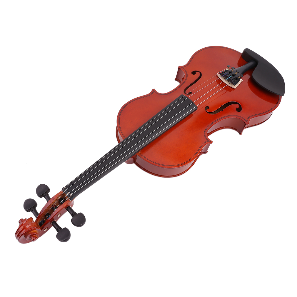 4/4 High Grade Full Size Solid Wood Natural Acoustic Violin Fiddle With Case Bow Rosin Professional Musical Instrument New-1