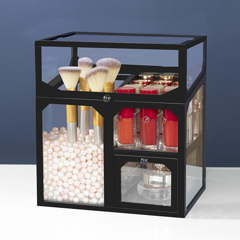 Косметический лак для ногтей Губная Помада Держатель Макияж Органайзер туалетный столик макияж кисти Ювелирные изделия Ожерелье жемчужная коробка для хранения макияжа|Ящики и баки для хранения|   | АлиЭкспресс