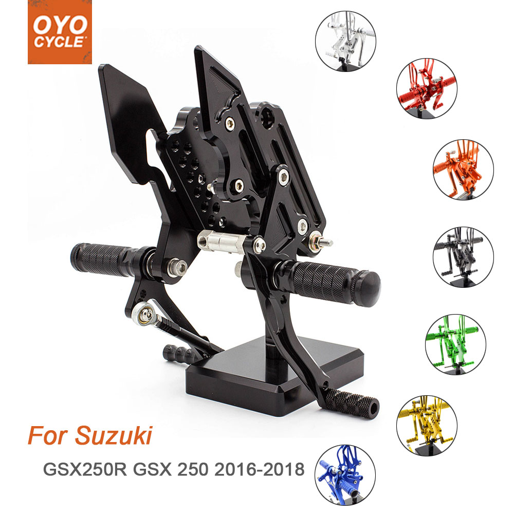 For Suzuki GSX250R 2016 2017 2018 Motorcycle Rear Set Accessories CNC Adjustable Rearset Foot Pegs GSX250R GSX 250 Foot Rests
