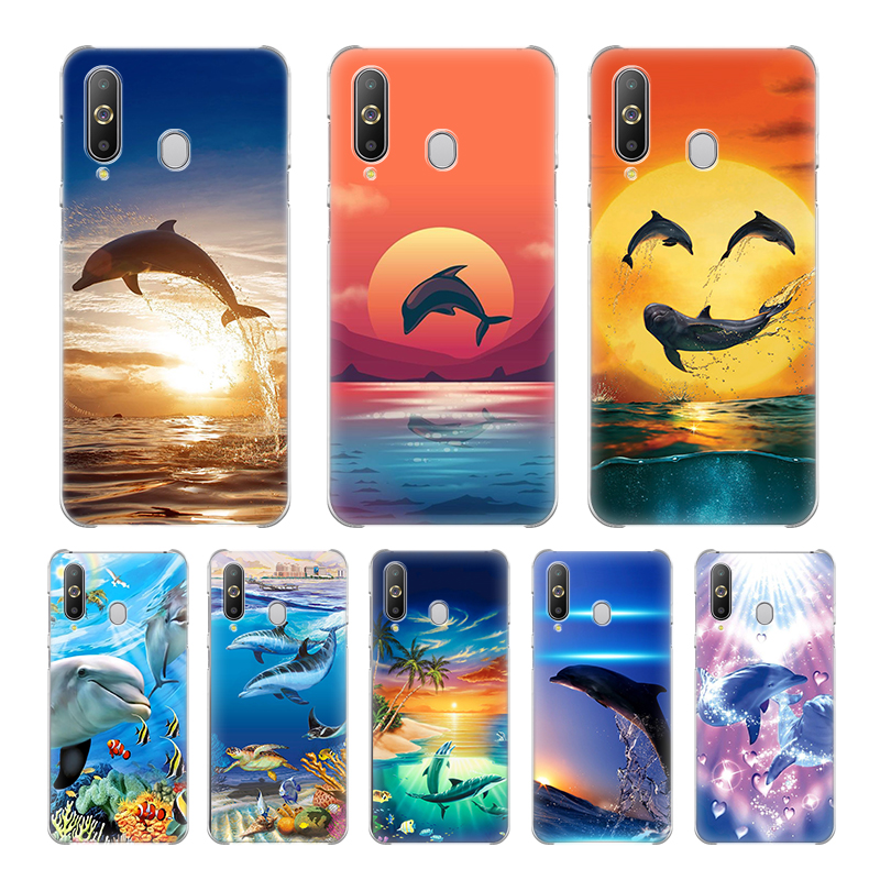 Hard PC Phone Case For Samsung Galaxy A10e A10s A20 A30 A40 A50 A60 A70 A51 A71 A01 A21 Cover Couqe Ocean Dolphin Dance Jumping image