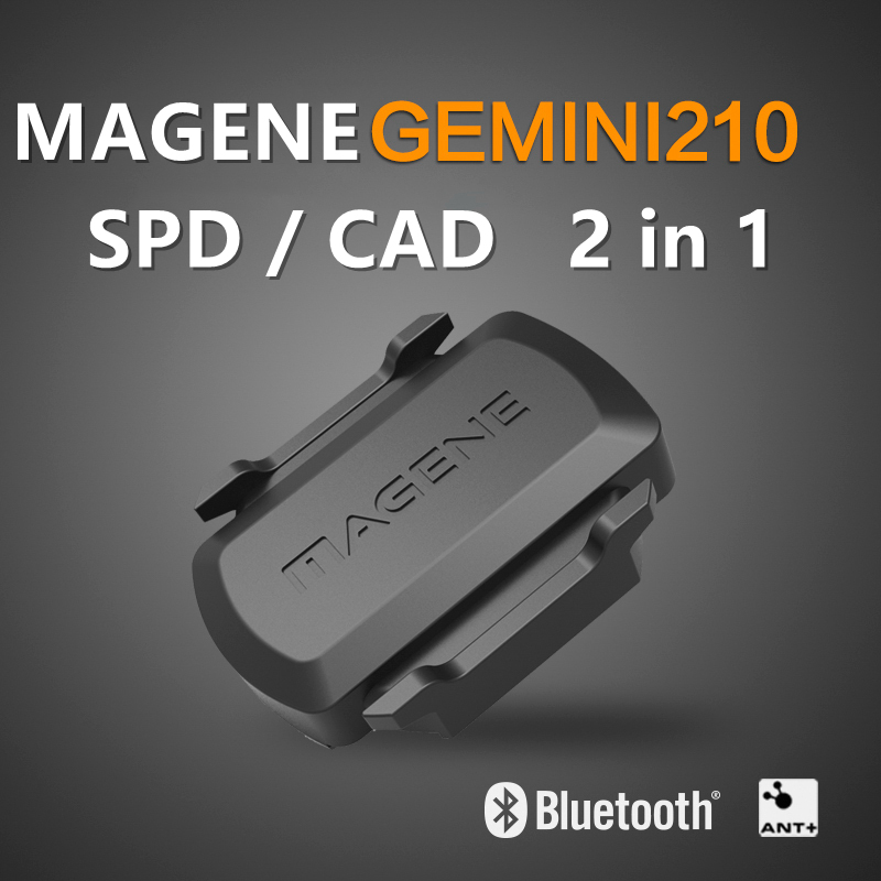 2020 MAGENE S3+ Bicycle Computer Cadence And Speed 2-in-1 Wireless Dual Module Sensor Bluetooth 4.0 And ANT, Geomagnetic Sensor
