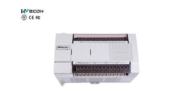 Wecon 40 points transistor input plc remote control automation with Portuguese PLC software