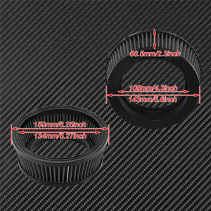 Image 5 - 1PC Motorcycle CNC Replacement Air Cleaner Intake Filter System Inner Element For Harley Sportster XL Touring Softail Dyna FXDLS
