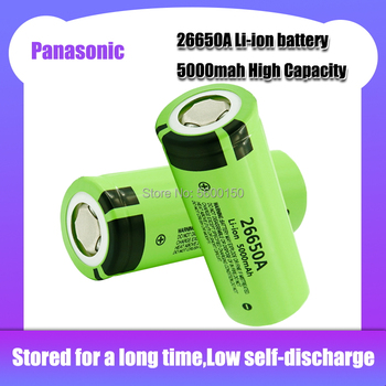 New Original Panasonic 26650A 3.7V 5000mAh Rechargeable Li-ion Lithium Battery for LED flashlight Electric car Medical equipment image