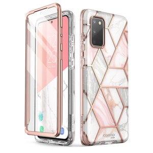 Image 1 - Capa cosmo para samsung galaxy s20/s20 5g, cobertura com glitter e mármore de corpo inteiro, I BLASON protetor de tela integrado