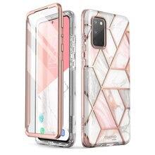 I BLASON Voor Samsung Galaxy S20 Case / S20 5G Case Cosmo Full Body Glitter Marmer Bumper Cover Met ingebouwde Screen Protector
