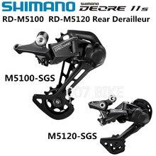 SHIMANO DEORE RD M5100 M5120 צל אחורי Derailleurs אופני הרי M5100 SGS MTB Derailleurs 10 מהירות 11 מהירות 22 מהירות