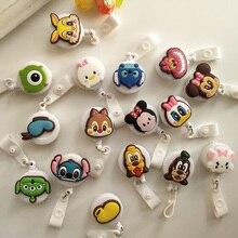 Cartoon Winnie the Pooh Retractable Badge Reel ABS Plastic  Kawaii Nurse ID Lanyard Name Tag Card Badge Holder Reels Badge Reel