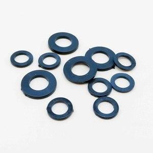 100 шт. M2 M2.5 M3 M4 M5 M6 M8 белый черный пластик нейлон плоская шайба прокладка изоляции кольцо для болта