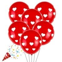 New 100pcs Balloon White Red Love round heart wedding balloons Birthday party latex ballute wedding Decoration Valentine\'s Day