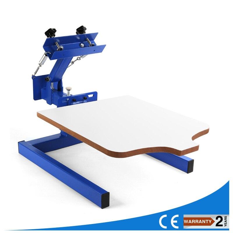 Новый 1 Цвет 1 Станция шелкография печатная машина 1-1 пресс DIY футболка печать