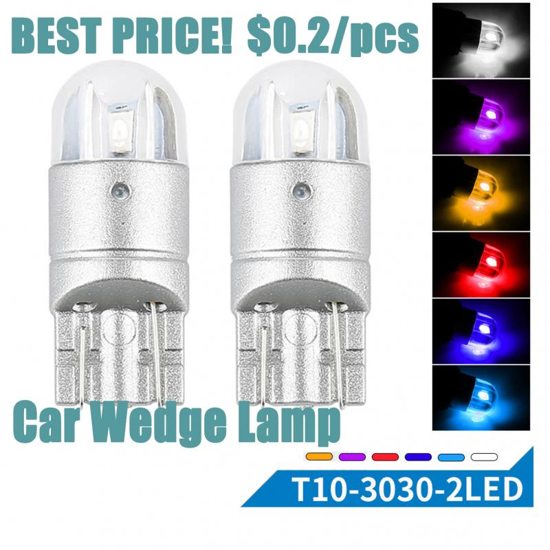 1PCS Car Reading Lamp LED T10 W5w 194 168 12V Read Lamp Canbus Parking Bulb Auto Wedge Clearance Six Colors Auto Signal Lamp
