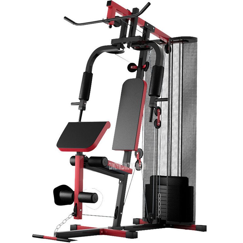 Multi-functional Single Person Fitness Trainer Counterweight 45kg/68kg Exercise Home Gym Combination Fitness Equipment