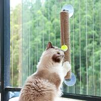 Pet cat scratcher tree board cats toy cardboard for cat kitten window toy sucker funny interactive toy with bell rascador gato