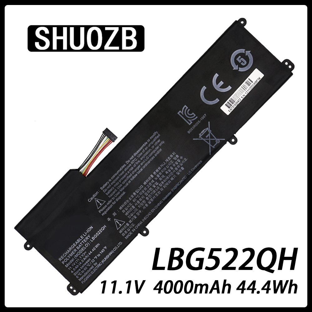 New LBG522QH Laptop Battery For LG XNOTE  Z360 Z360-GH60K 11.1V 44.4Wh 4000mAh SHUOZB