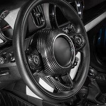 Автомобильные аксессуары из углеродного волокна, внутренняя отделка рулевого колеса, защитная крышка, наклейка, автомобильный Стайлинг для MINI Cooper S F54 F55 F56 F60