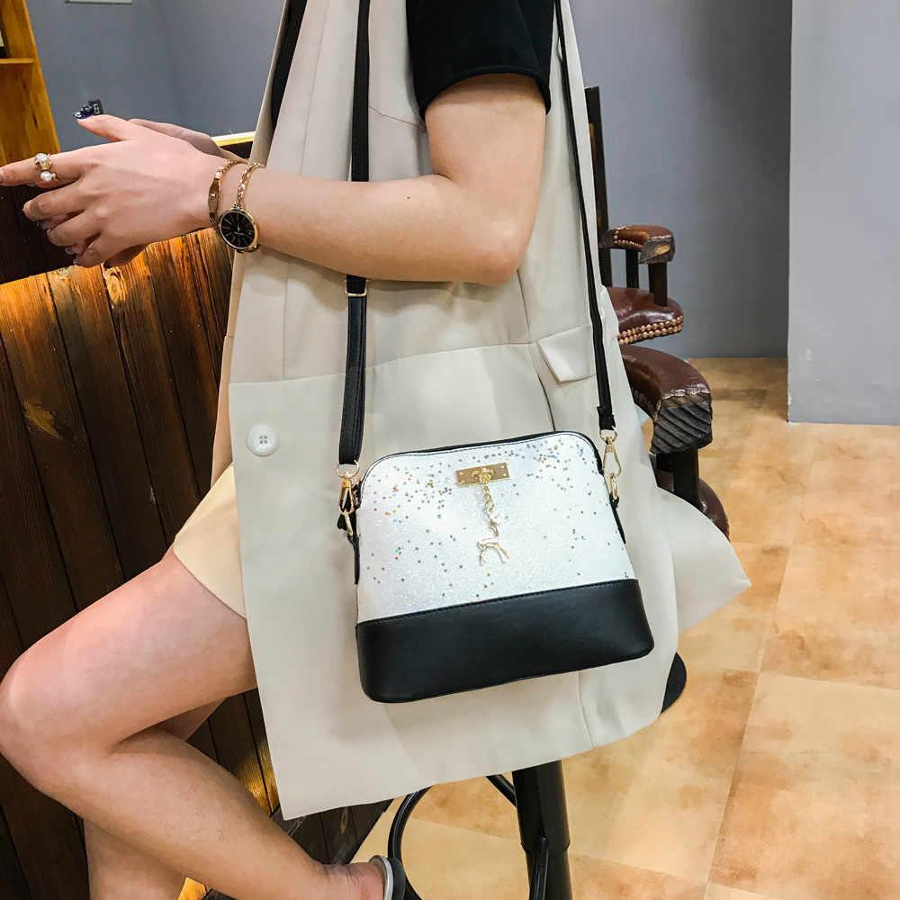 ผู้หญิงหนัง Crossbody กระเป๋า Sequins กวางขนาดเล็กไหล่กระเป๋า Messenger กระเป๋าถือ Bandolera Mujer Bolsas Femininas #25