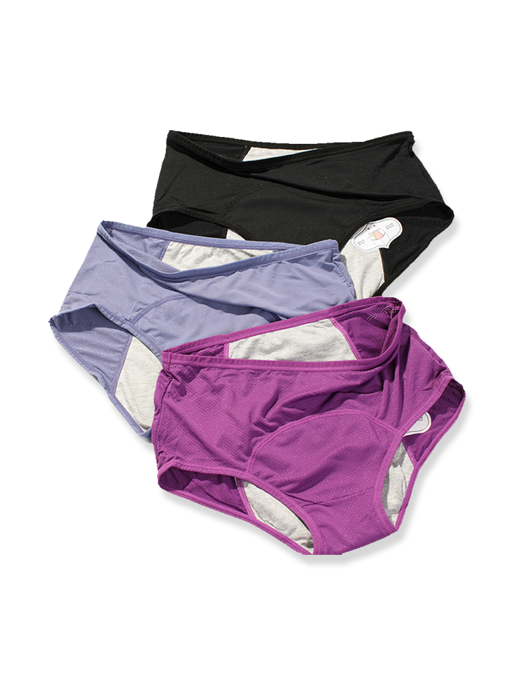 Menstrual Panties Period Underwear Sanitary Leakproof Woman Multicolor Breathable Health