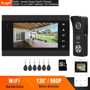 Image 1 - HomeFong Smart WiFi Video Doorbell 7 Inch Wireless Door Intercom With Motion Sensor And  Real Time Control Access Control System