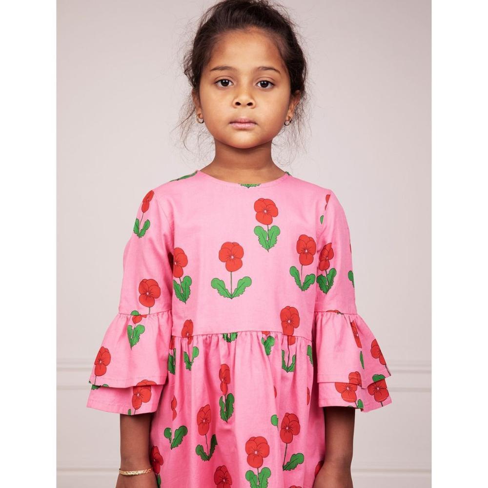 2021 New Autumn Winter Rose Note Dresses MR Brand Baby Girl Clothes Christmas Dress Kids Toddler Girls Cardigan Children Fashion 4