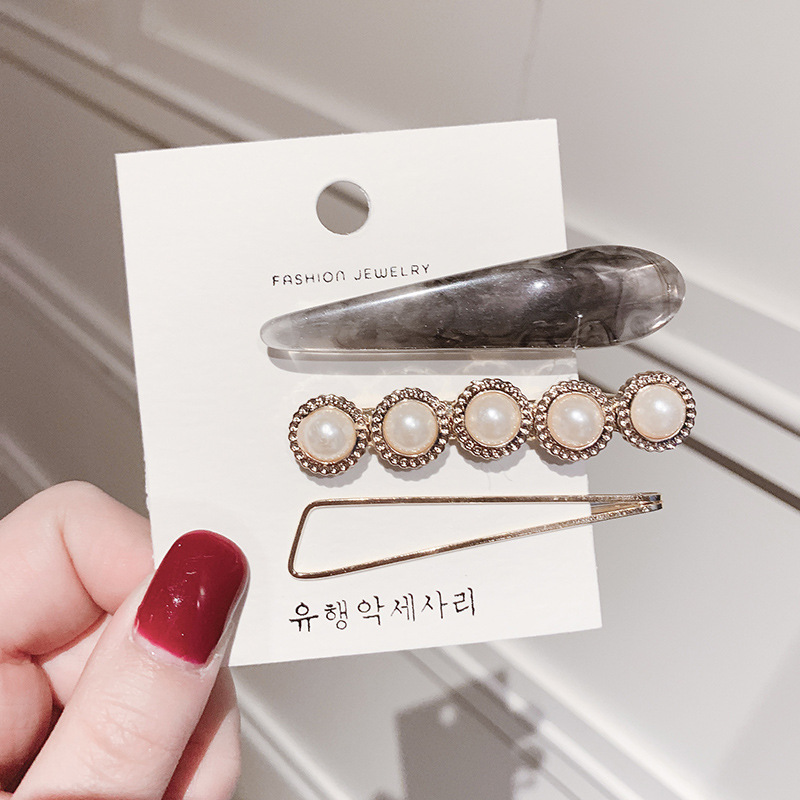 New ins Korean of simple glisten pearls jewelry wedding bridal hair accessories hairclips for women have retro tiaras and crowns