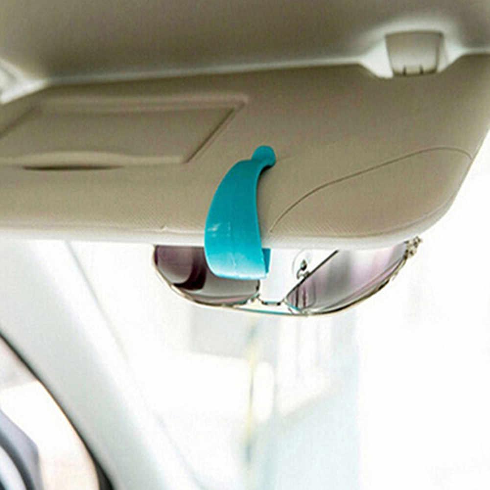Sıcak en iyi 2 adet oto otomobil araç vizör güneş gözlüğü gözlük kart bilet İzin klip raptiye etiket клипсы автомобильные