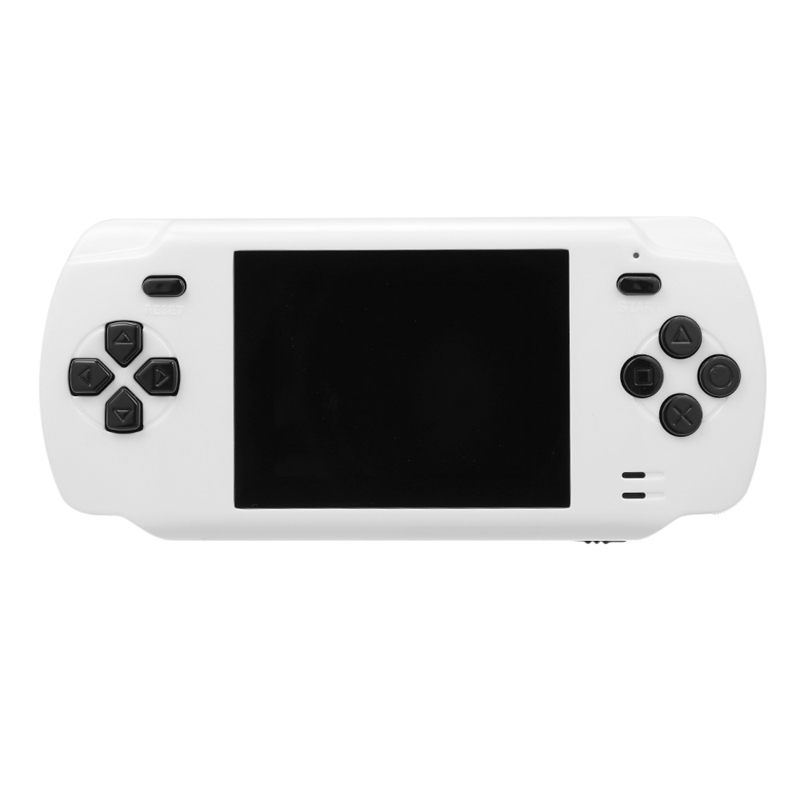 Powkiddy S600 2.8 Inch Game Console Built-In 68 Classic Games 8-Bit Av Out Video Handheld Gamepad White