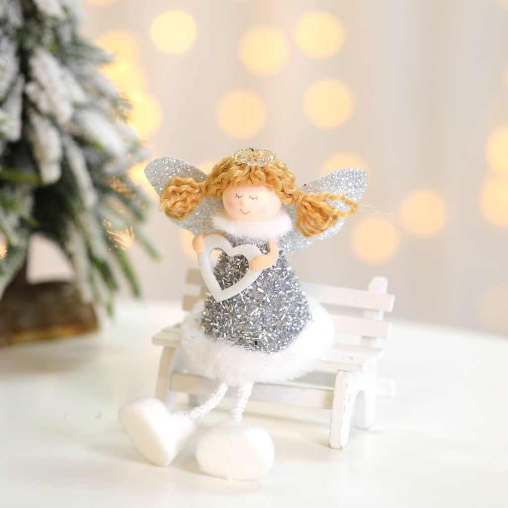 Santa bonito do Anjo Boneca Veados Pingente Decoração Da Árvore de Natal Ornamento de Suspensão de Exibição Da Janela Decorações de Mesa Brinquedo de Criança Presente de Natal
