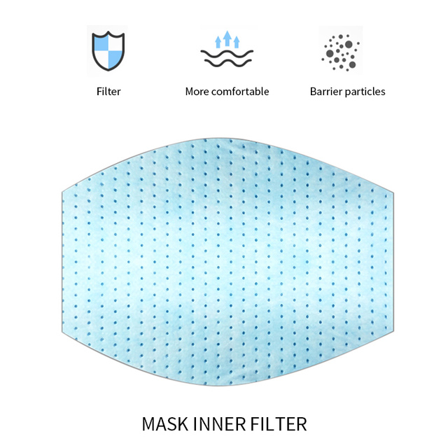 2020 Cotton Three-gun Mask Dustproof Activated Carbon Filter Windproof  And Flu Mask Care Belt Filter Equivalent 2