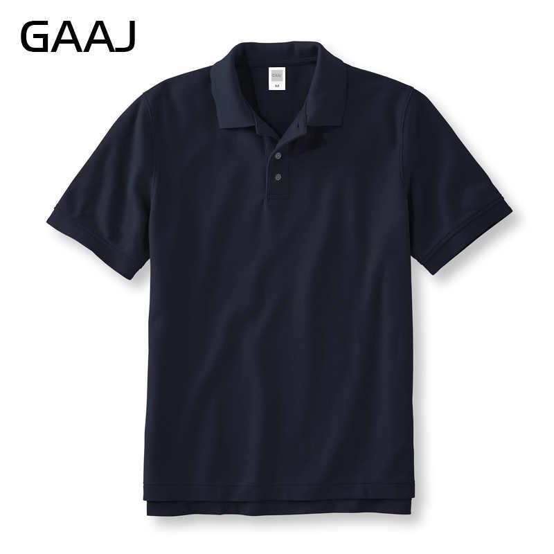 GAAJ Polo koszula mężczyzna 100 bawełna kolorowy męski z krótkim rękawem letnie koszule US słynnej marki odzież granatowy czarny czerwony mężczyzna Polo kołnierz