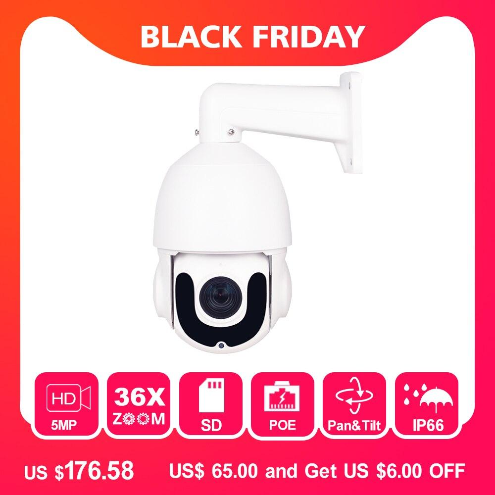 Hikvision Compatible 5MP PTZ IP Camera Outdoor 2952 * 1944 HD Pan Tilt 36X Zoom Speed Dome POE Cameras CCTV Surveillance 120m IR