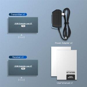 Image 5 - 2021 przedłużacz HDMI KVM przedłużacz przez IP RJ45 sieć Ethernet przedłużacz KVM USB HDMI 200M przez przedłużacz UTP/STP KVM CAT5 CAT6