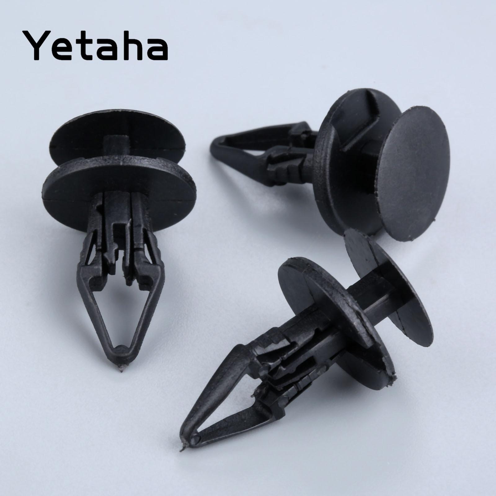 Yetaha 50 шт. Универсальный крепеж для крыла автомобиля, заклепки с фиксированным зажимом, пластиковые крепежные зажимы для Ford Buick Chevrolet