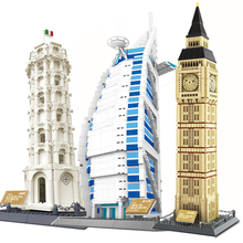 Building Blocks Fit Legoingly 1642Pcs Architecture Series The Big Ben of London Elizabeth Tower MOC Assemble Bricks Toys Gifts