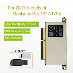 A1708 حاسوب محمول SSD 128GB 256GB 512GB 1 تيرا بايت لماك بوك برو الشبكية 13.3 2017 سنة 1708 أقراص بحالة صلبة PCI-E EMC 3164 EMC 2978