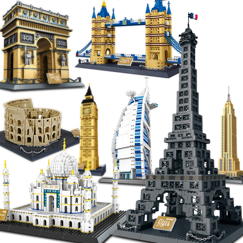Compatible Architecture pyramid Sydney Opera House blocks set building city capital London Tower triumphal arch Architect(China)