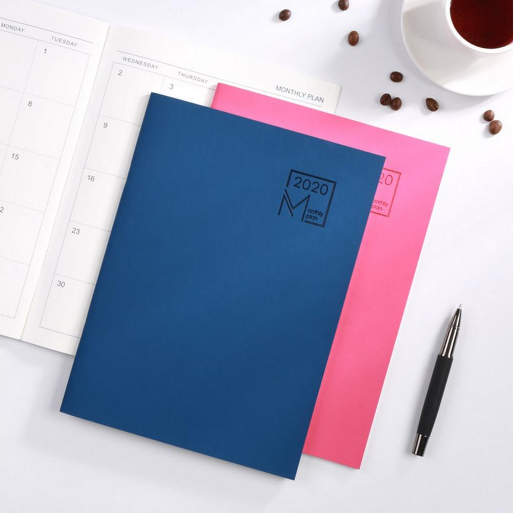 2020 Monthly Planner - Leather Cover 12-Month Planner 24 Sheets Diary Leather Notebook Personal Agenda Planner 7.27*10 Inch