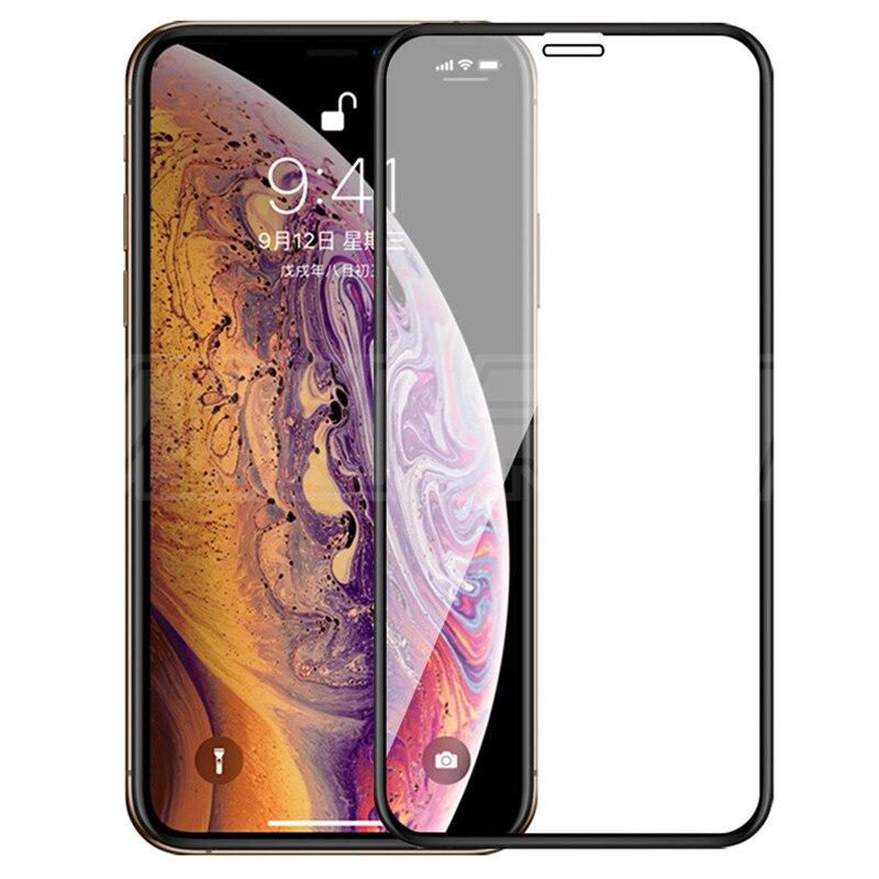9D защитное стекло с полным покрытием для iPhone 8 7 6 6S Plus 5 5S SE, Защита экрана для iPhone 12 11 Pro XS Max X XR, закаленное стекло