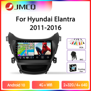 JMCQ Car Radio Android 9.0 For Hyundai Elantra Avante I35 2011-2016 Multimedia Player GPS Navigaion Floating window Split Screen