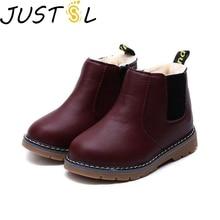 Новые зимние детские ботинки из хлопка с мягкой подошвой; теплые Нескользящие зимние ботинки для мальчиков и девочек; модные детские ботинки martin