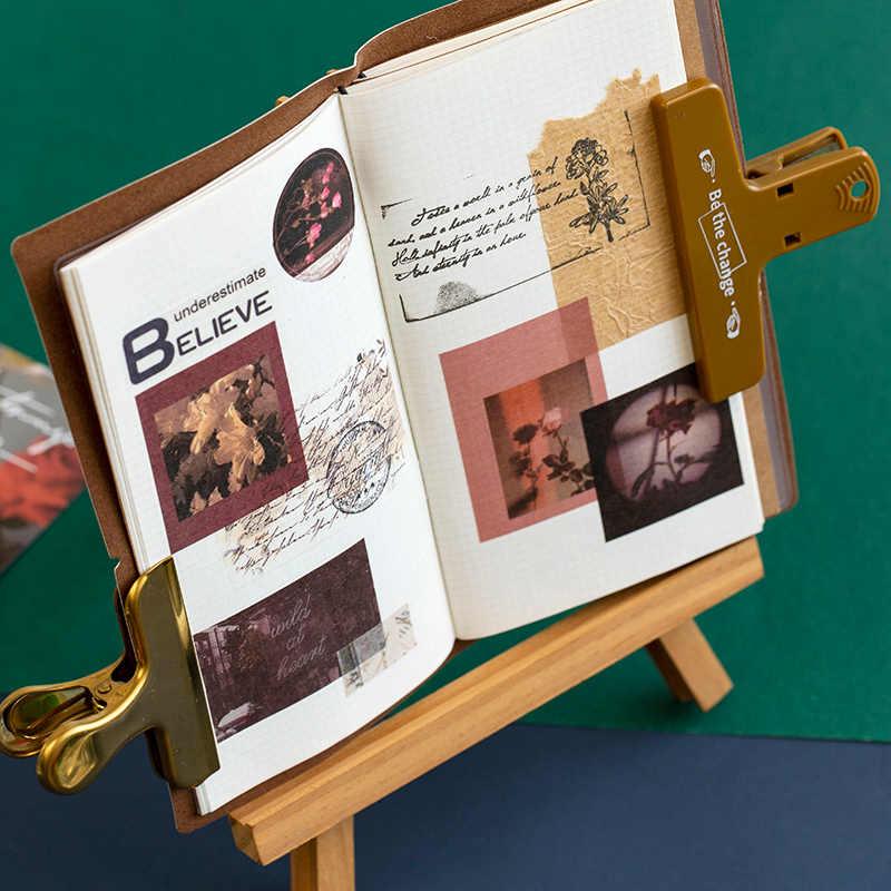 100 Pcs/set Ins Gaya Peluru Jurnal Dekoratif Ditulis Kertas Stiker Scrapbooking Tongkat Label Diary Alat Tulis Album Stiker