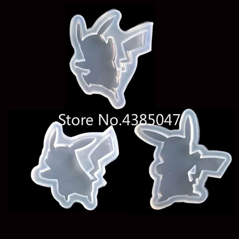 1PC Cartoon Figure Liquid Silicone Expoxy Mold Resin Jewelry Mold UV Pendant Jewelry Accessories Handcraft Jewelry Tool