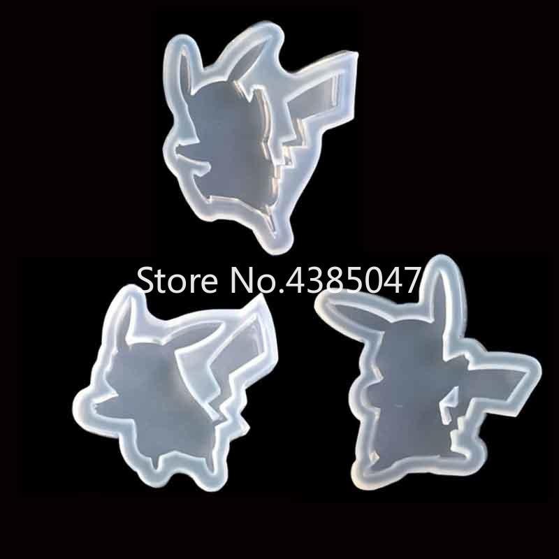 1PC Cartoon Figure Liquid Silicone Expoxy Mold Resin Jewelry Mold UV Pendant Jewelry Accessories Handcraft Jewelry Tool