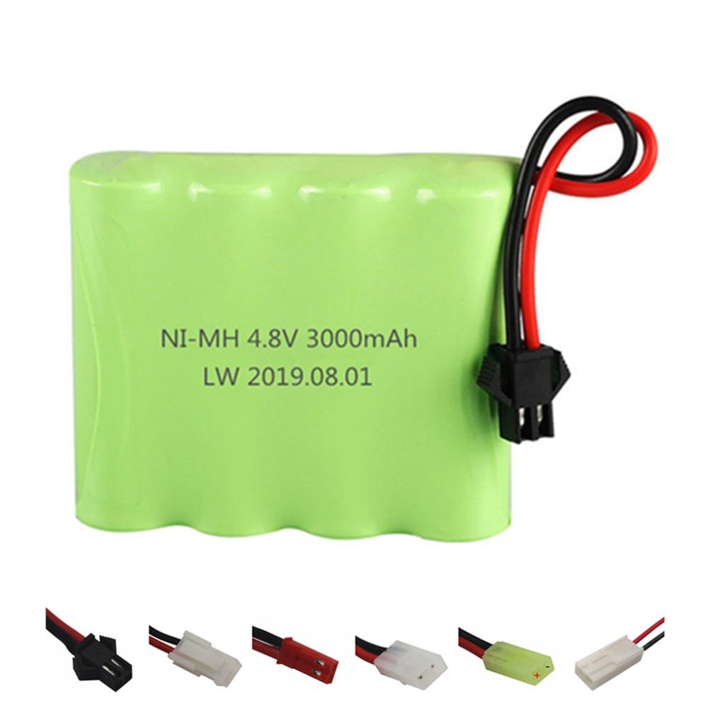 NIMH 4,8 v 3000mAh батарея для Rc игрушки машины танки роботы лодки пистолеты Ni MH 4,8 v 2400mAh аккумуляторная батарея 1 шт|Перезаряжаемые батареи|   | АлиЭкспресс