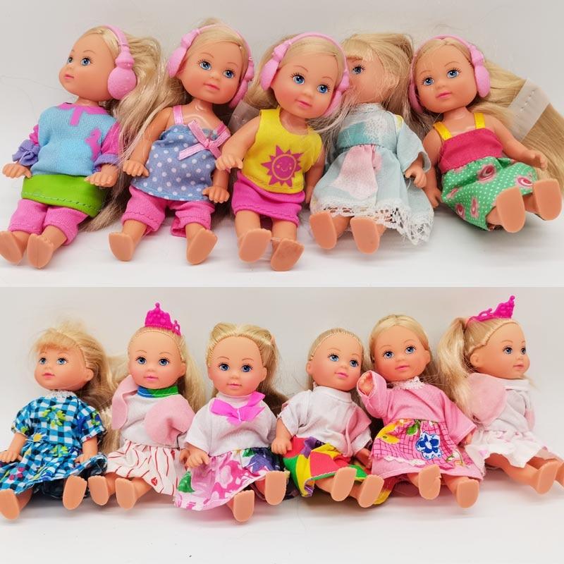 5 шт./лот 11 см мини куклы Келли Игрушки для девочек подарок на день рождения