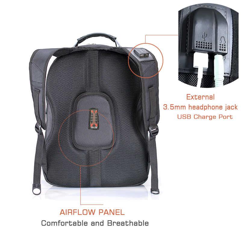 """Crossten Swiss wielofunkcyjny wodoodporny plecak na laptopa do laptopa 17.3 """"Port ładowania USB tornister o dużej pojemności Mochila"""