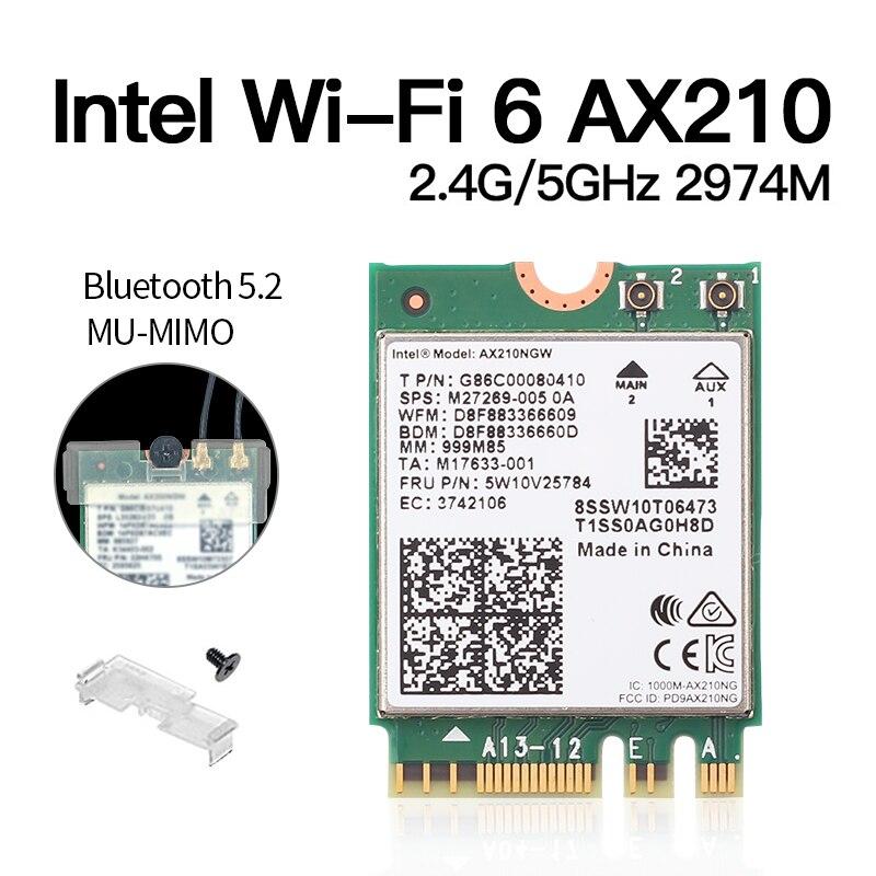 intel ax210ngw 2.4ghz 5g 802.11ax bluetooth 5.2 wi-fi