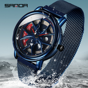 Image 4 - SANDA 2019 New Top Brand Men Watches Mens Mesh Belt Waterproof Casual Quartz Date Clock Male Wrist watch relogio masculino