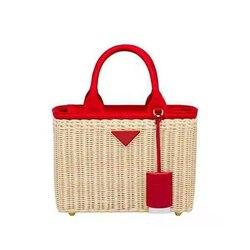 Luxus handtaschen frauen echtes leder taschen designer rattan weben Stroh handtasche für frauen 2019 Original luxuriöse mode marke