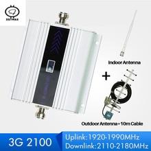 ZQTMAX 60dB مكرر 3G WCDMA إشارة الداعم 3G UMTS 2100 المحمول الخلوية مكرر إشارة مضخم الهوائي 3g إشارة